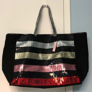NWT Victoria's Secret Black Friday Sequin Tote
